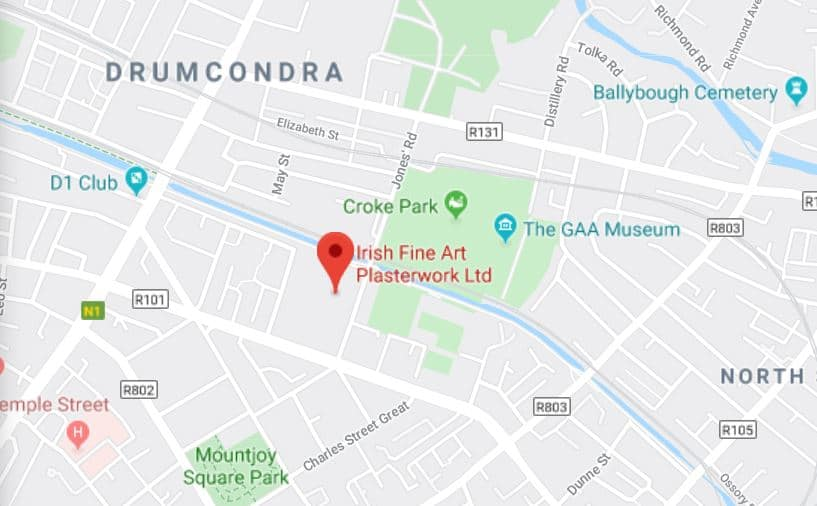 Irish Fine Art Plasterwork Map
