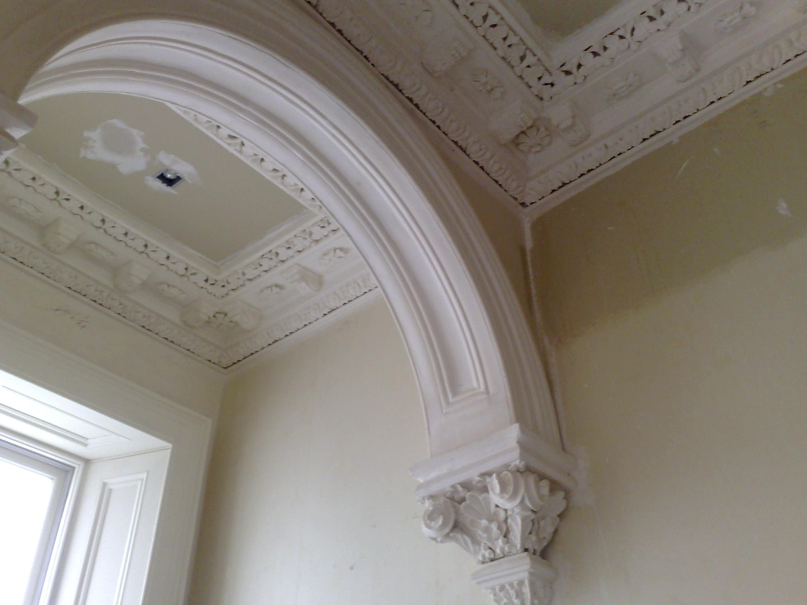 Arch, Cornices and Centre pieces