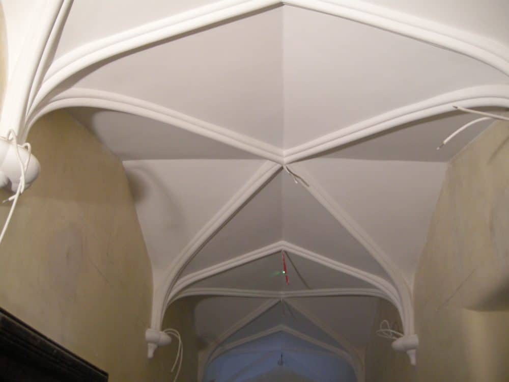One of four vaulted ceilings